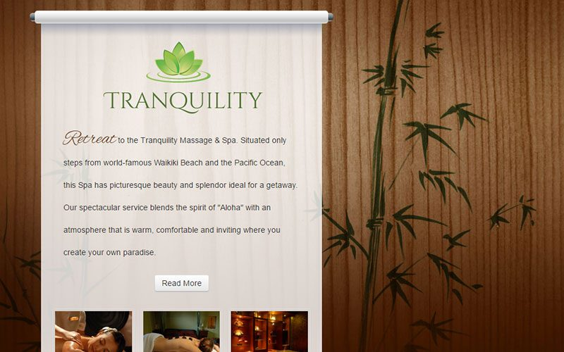 Tranquility Website