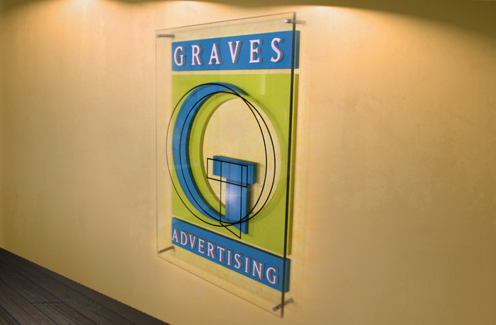 Graves Advertising Front Desk Signage